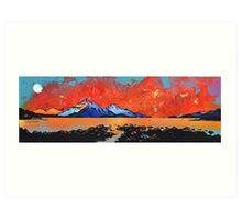 Skye Sunset from Rassay, Scottish Western Isles Art Print
