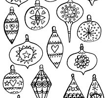 Retro Christmas Ornaments by Nic Squirrell