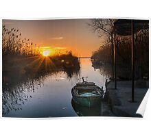 Sunset at Silla Poster