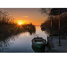 Sunset at Silla Photographic Print