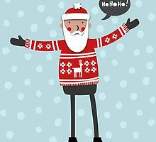 Hipster Santa by Nic Squirrell