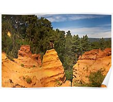 View from the Ochre Footpath - Roussillon Poster