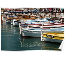 Boats in the Cassis Harbor Poster
