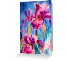 Iris Carnival Greeting Card