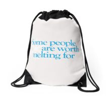 Frozen - Some people are worth melting for Drawstring Bag