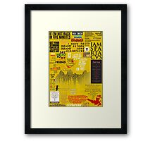 39 Favourite Film Quotes Framed Print