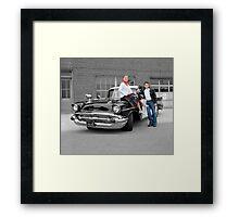 '57 Bel Air Police Cruiser - People Highlight Framed Print