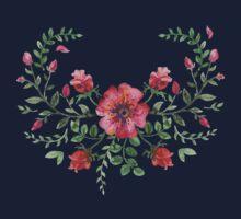 watercolor roses  Kids Tee