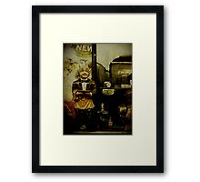 The waiter - Lost in the past Framed Print