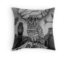 The Lair of the Spiderowl Throw Pillow