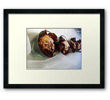 GOURMET RASPBERRY CHOCOLATE MUFFINS Framed Print