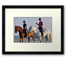 Sunset ride side by side Framed Print