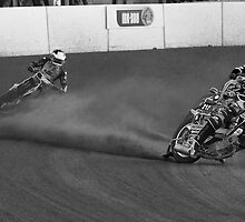 Eating Dirt at Speedway by John Nelson