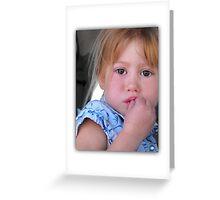 Little Miss Brown Eyes Greeting Card