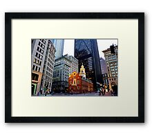 The Old State House Framed Print