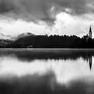 After the rain at Lake Bled by Ian Middleton