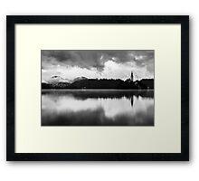 After the rain at Lake Bled Framed Print