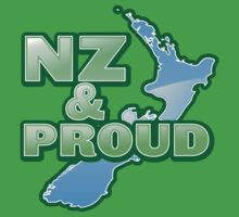 NZ and PROUD New Zealand map kiwi funny by jazzydevil