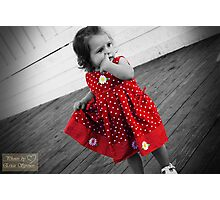 little red dress Photographic Print