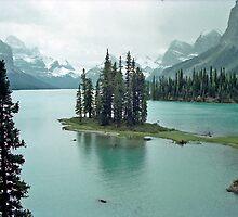Spirit Island near Jasper, Alberta, Canada by Adrian Paul