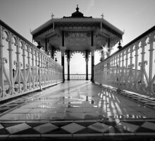 Band stand - Black and White by Kevin  Poulton
