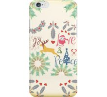 Christmas Joy Love Peace iPhone Case/Skin