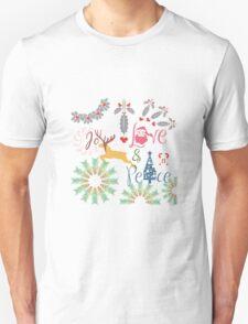 Christmas Joy Love Peace Unisex T-Shirt