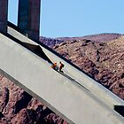 Hoover Dam Bridge workers by Derek Lowe