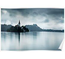 After the rain at Lake Bled Poster