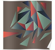 Abstract polygonal pattern Poster