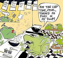 Frog Diners by Londons Times Cartoons by Rick  London