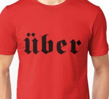 Über / Uber - Black Unisex T-Shirt