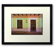 door_window Framed Print