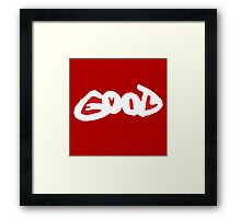 GOOD EVIL Framed Print