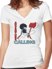 Adventure Calling Women's Fitted V-Neck T-Shirt