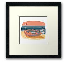 50s Quay - colour Framed Print