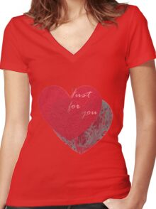 Tulips Fantasy Women's Fitted V-Neck T-Shirt