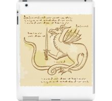 Dragon Holding Sword Etching iPad Case/Skin