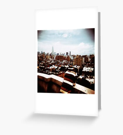 view over New York Greeting Card