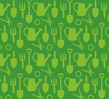 Green Garden Tools by XOOXOO