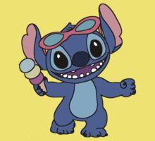 Happy Stitch with ice cream Kids Clothes