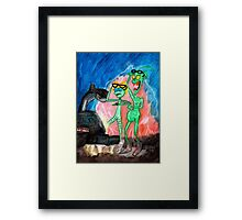 ZEEK from Mars & Nurdy from Venus ... Back to the NerdFest Framed Print