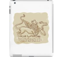 Griffin Fighting Snake Side Etching iPad Case/Skin