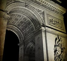 Arc de Triomphe by night by leigh miller
