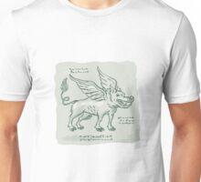 Wild Boar Wings Side Etching Unisex T-Shirt