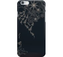 Floral to Floral Black iPhone Case/Skin