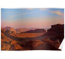 Wadi Rum Desert in Jordan - Sunset Poster