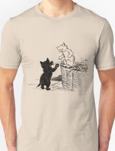Two Kittens - Black and White  T-Shirt
