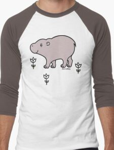Pygmy Hippo Men's Baseball ¾ T-Shirt