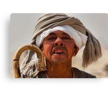 Toothless Egyptian midget man Canvas Print